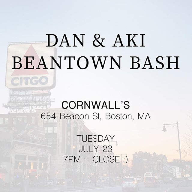 Wicked excited to be back in Boston soon 🥰🍻⚾️ I hope to see you at @cornwallsboston