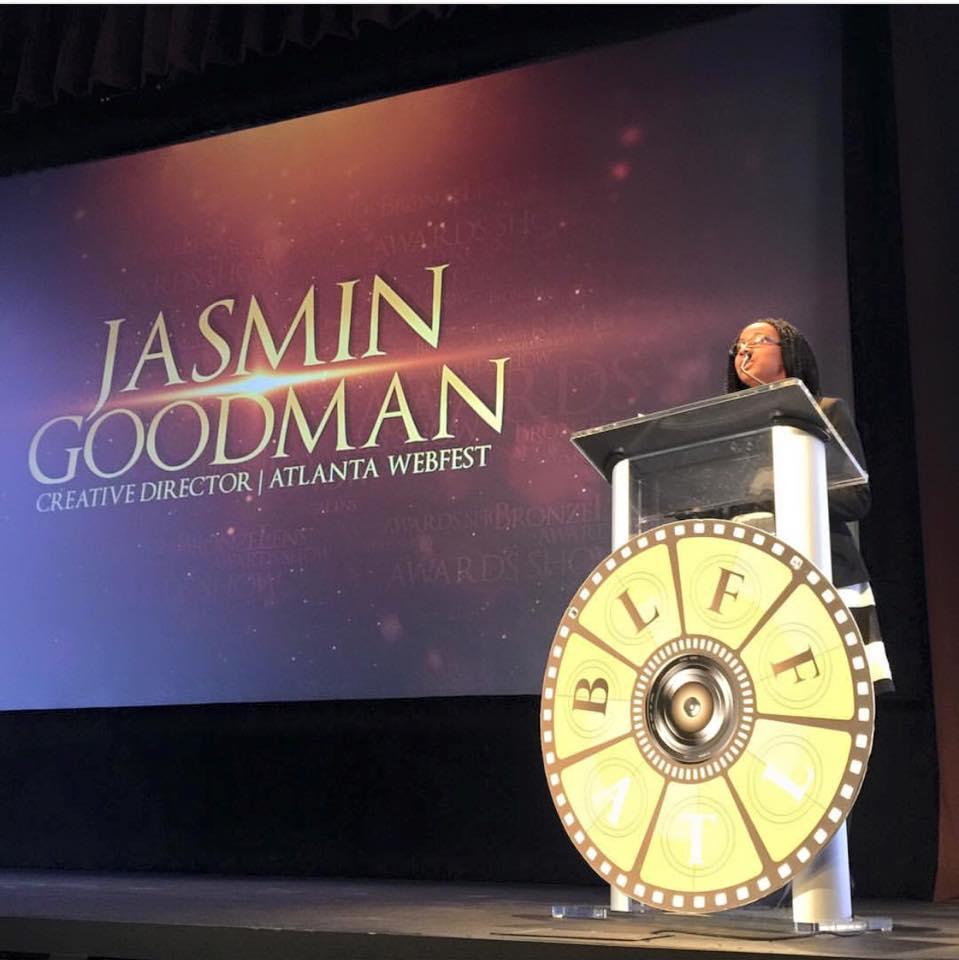 "Presenting ""Best Webisode"" at the 2015 BronzeLens Film Festival"