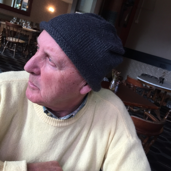 Dad wearing Slouch Beanie