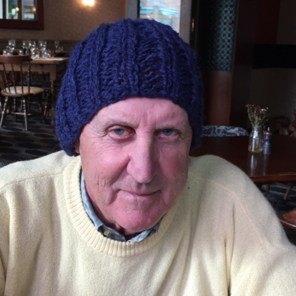 Blue Chunky Knit beanie for Dad