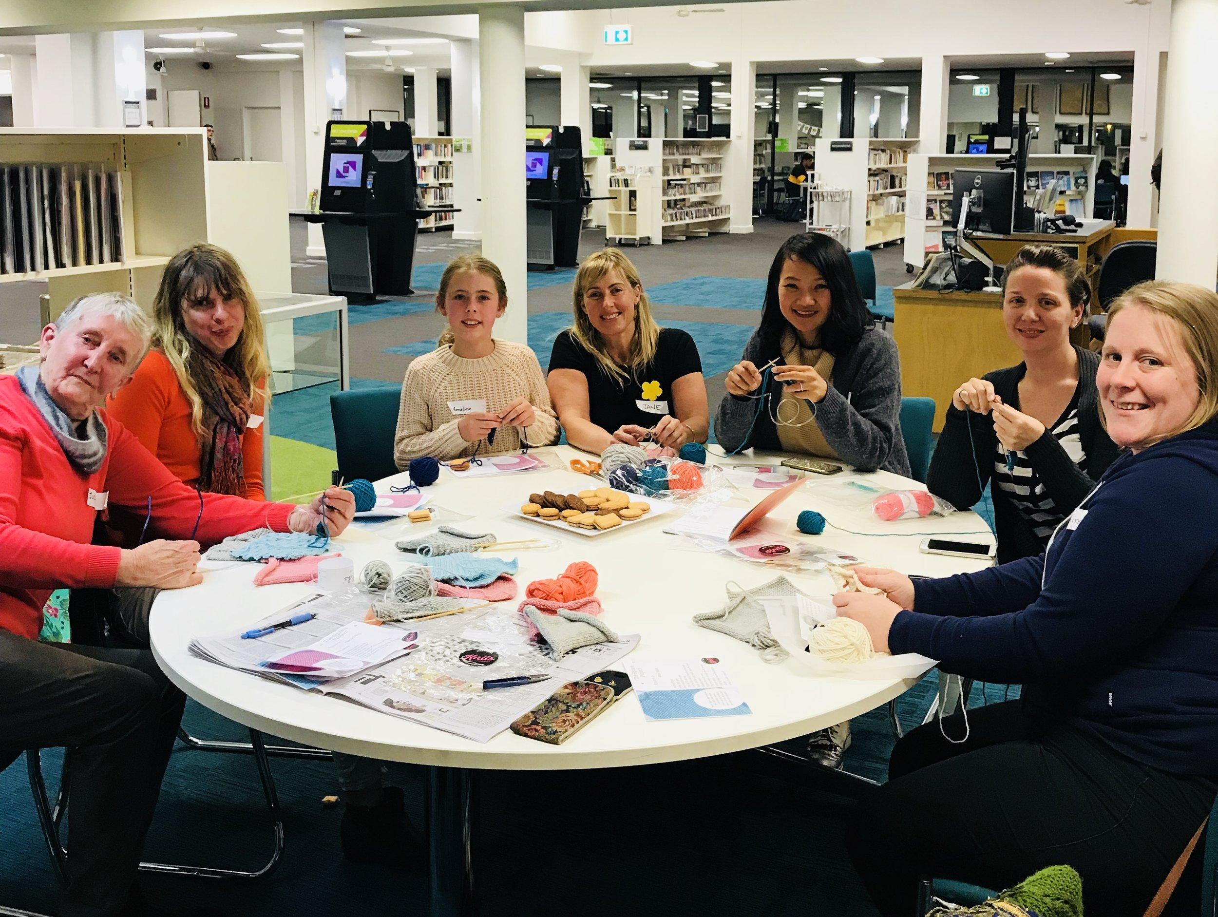 Malvern Library - beginner knitting group