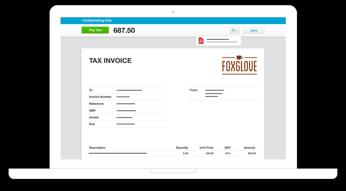 xero simple invoice system