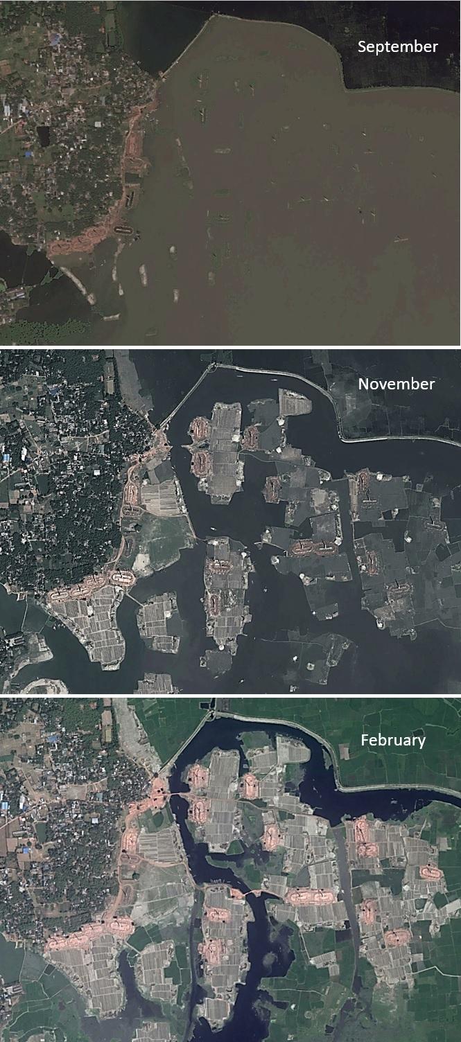 Figure 1: Seasonality of Brickfields as Captured in Google Earth Imagery