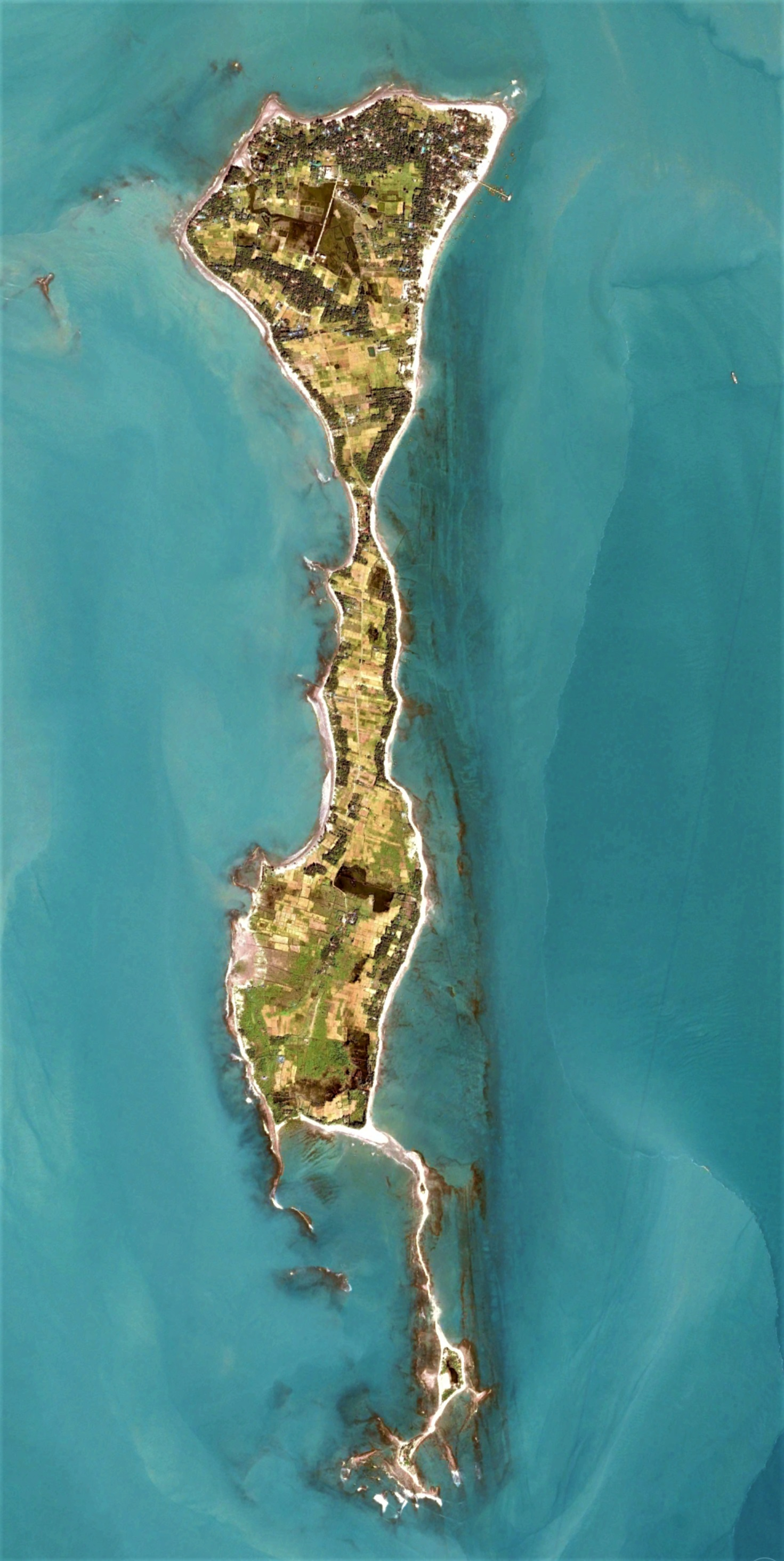 Saint Martin island. Image width: 3.5 kilometers