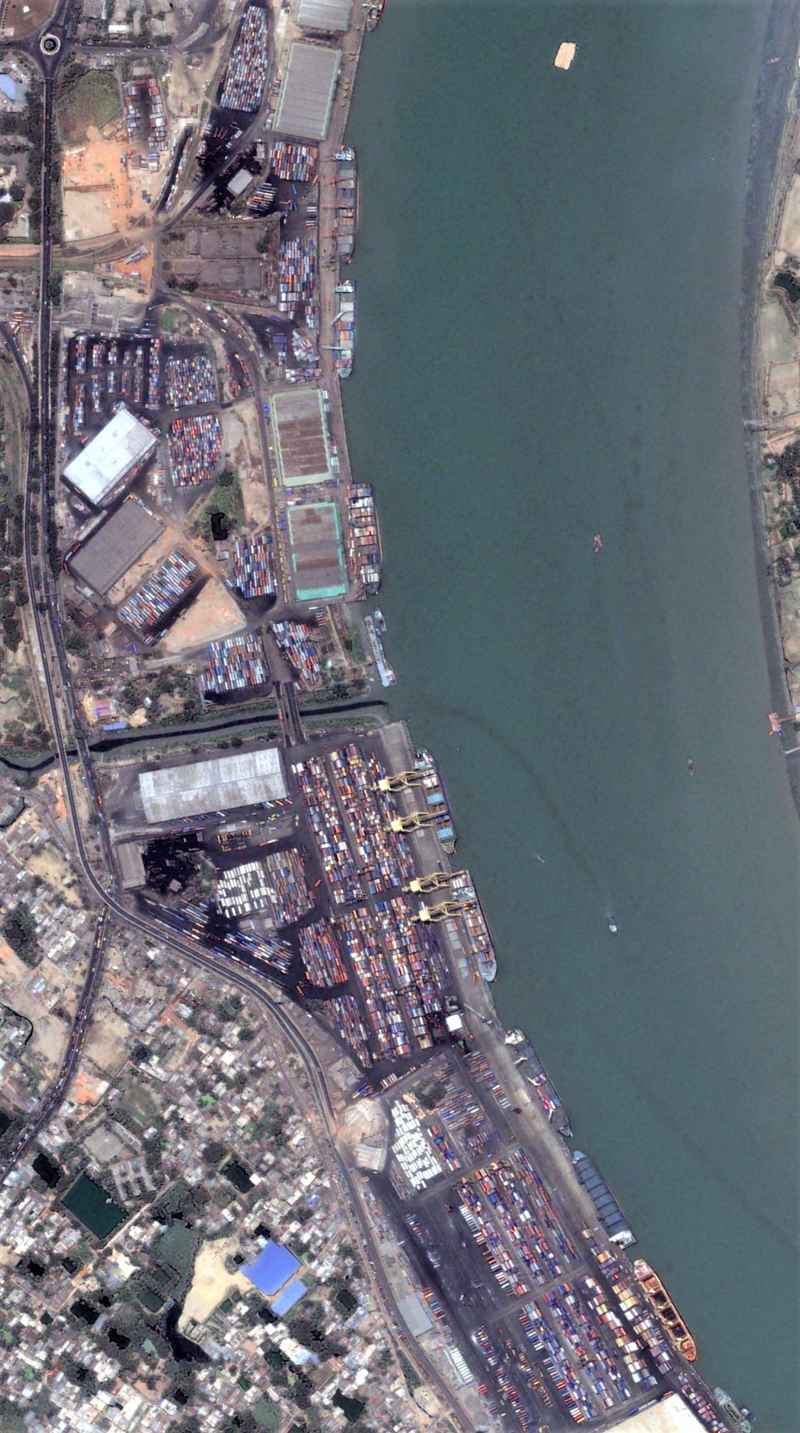 Upstream part of Chittagong sea port