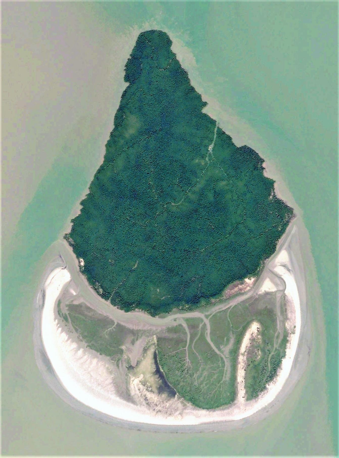 Putney island under formation process. Image width: 3 kilometers