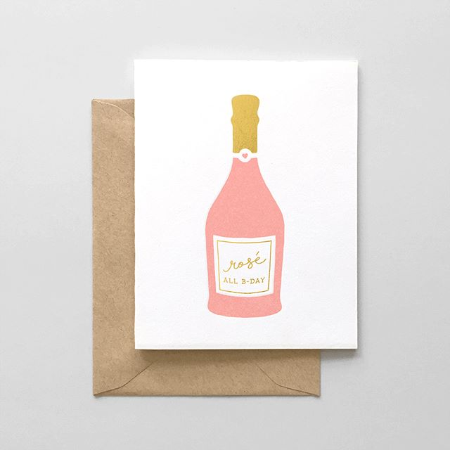 Happy Friday! We have some new birthday cards up on our site & Etsy shop 🍾❤️🎉 #roséallbday #prettylady #yasqueen