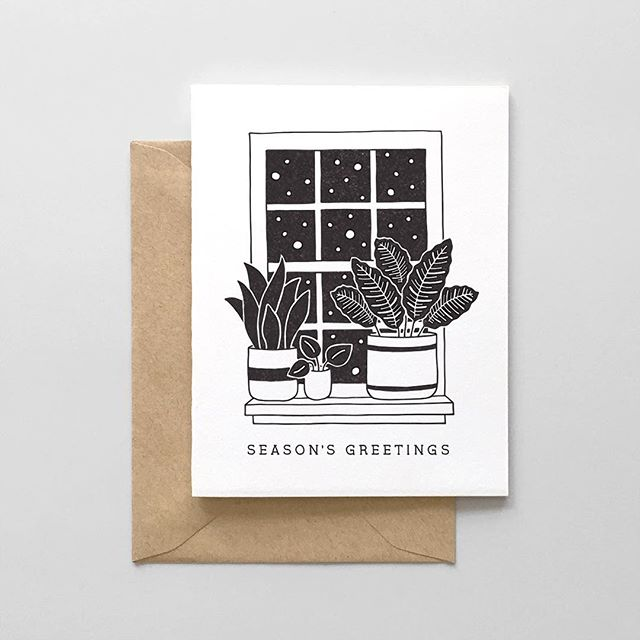 Can't believe we already had our first snow yesterday! We're debuting a few new holiday products this weekend, including this Snowy Window Greeting Card. Stay tuned for more ❄️💕