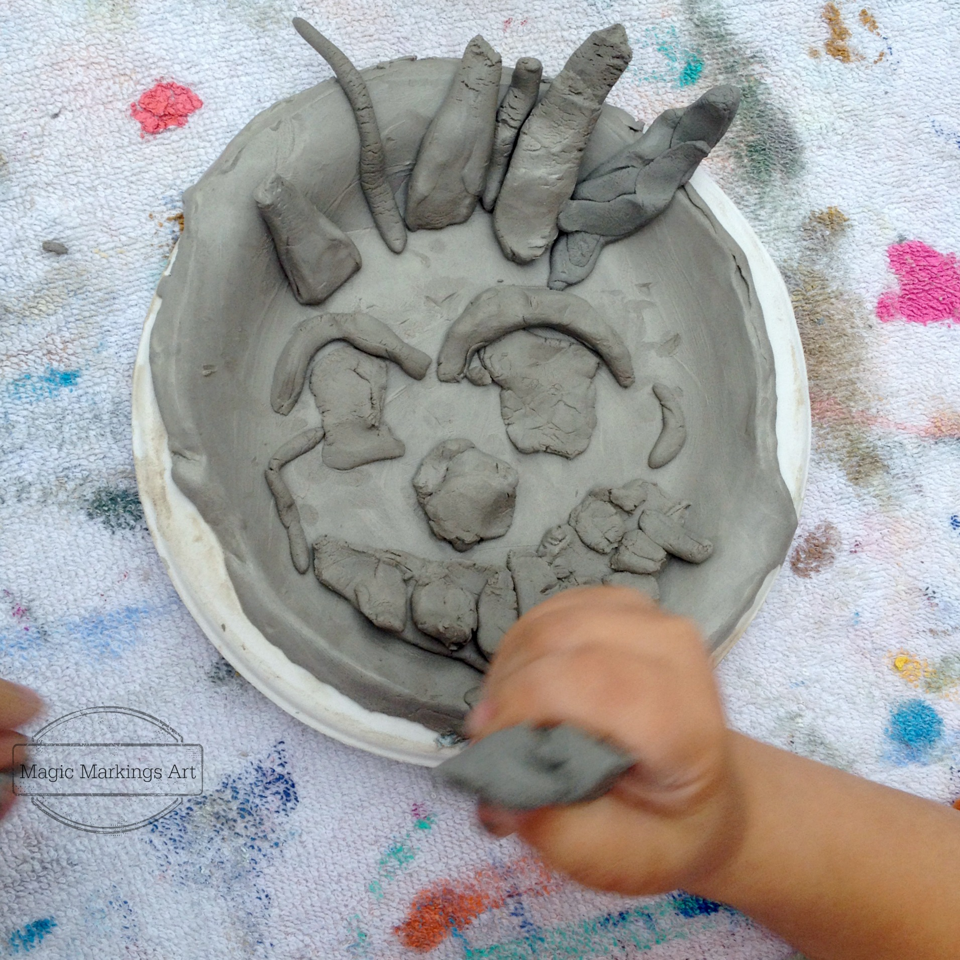 magicmarkingsart preschool art clay face