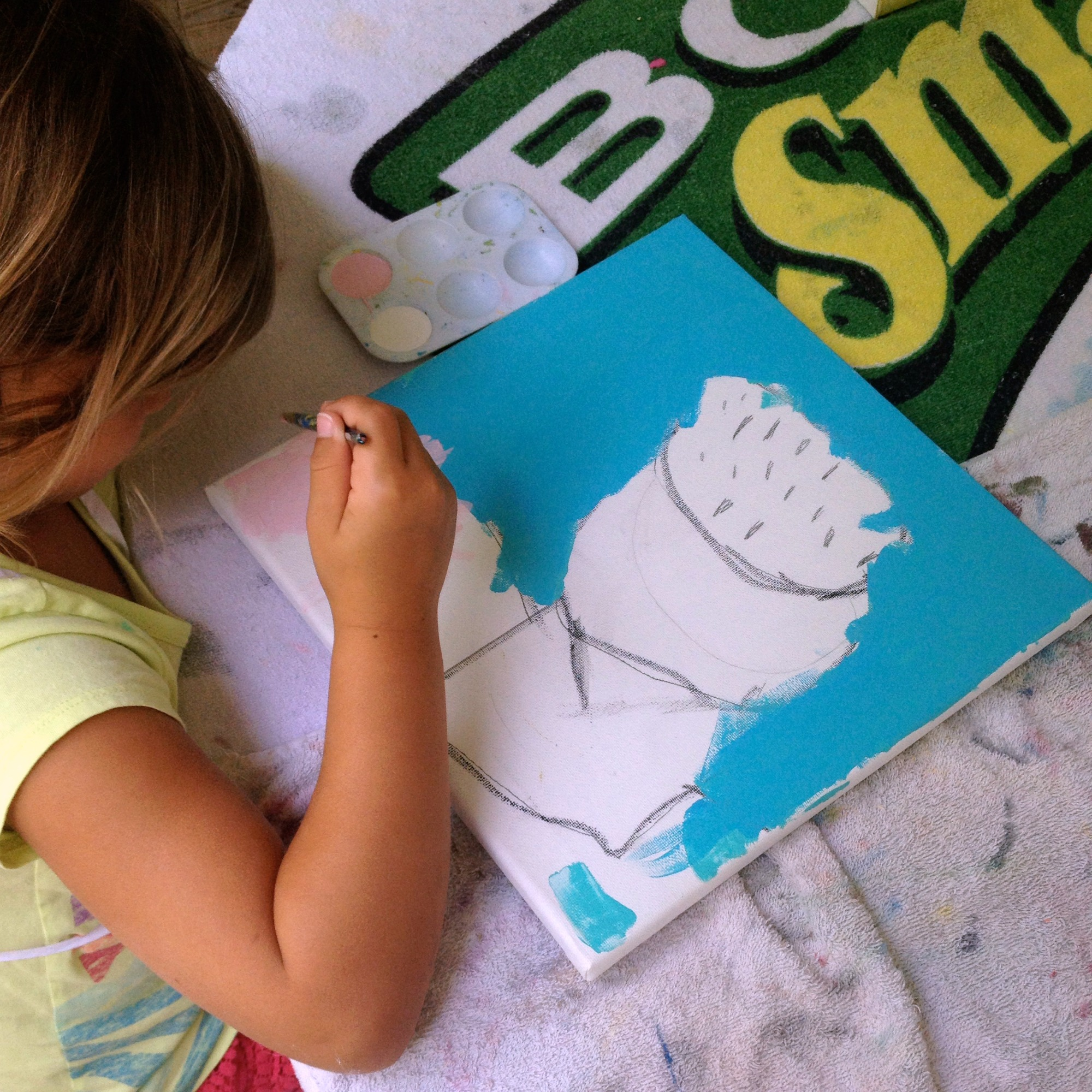preschool cupcake painting