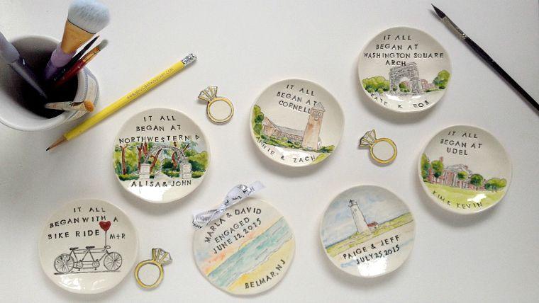magic markings art ring dishes