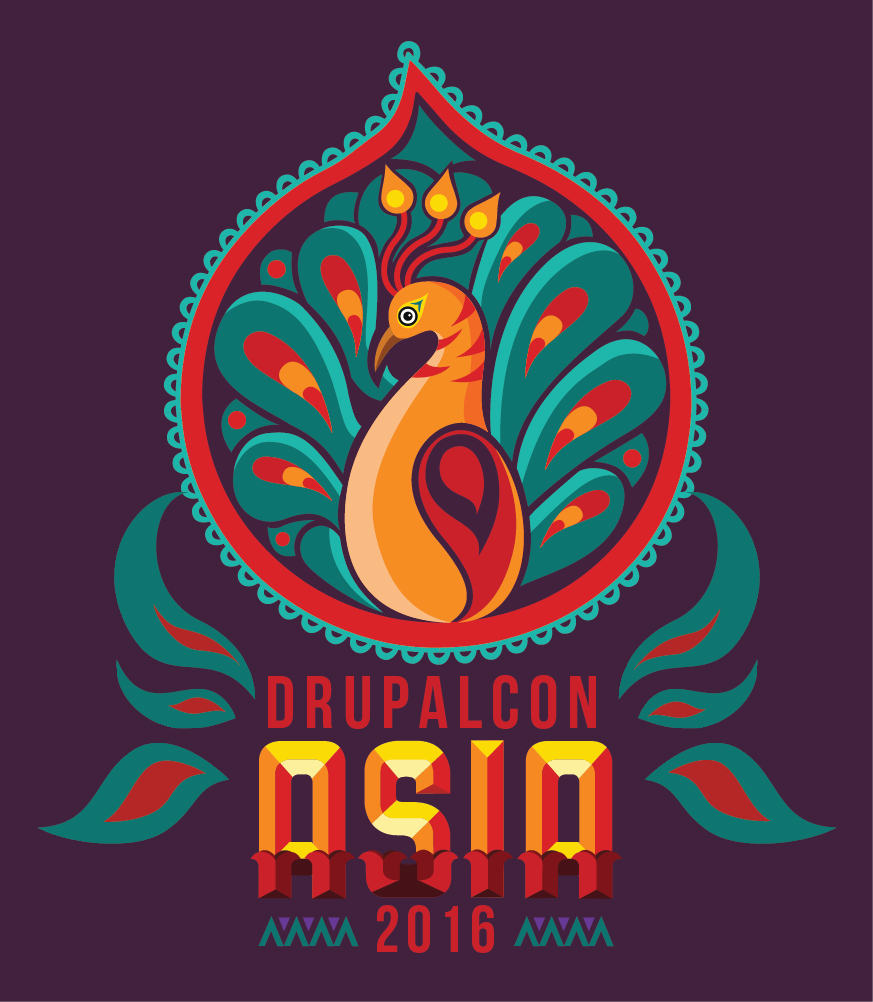 The DrupalCon Asia 2016, Mumbai logo