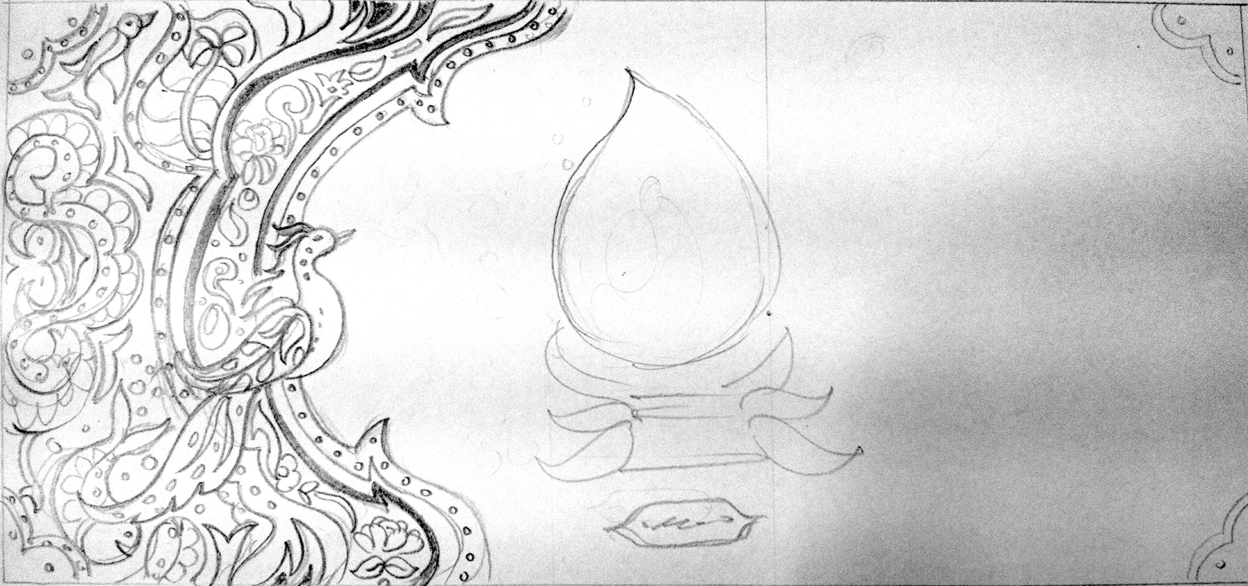 The detailed sketch of the cover page