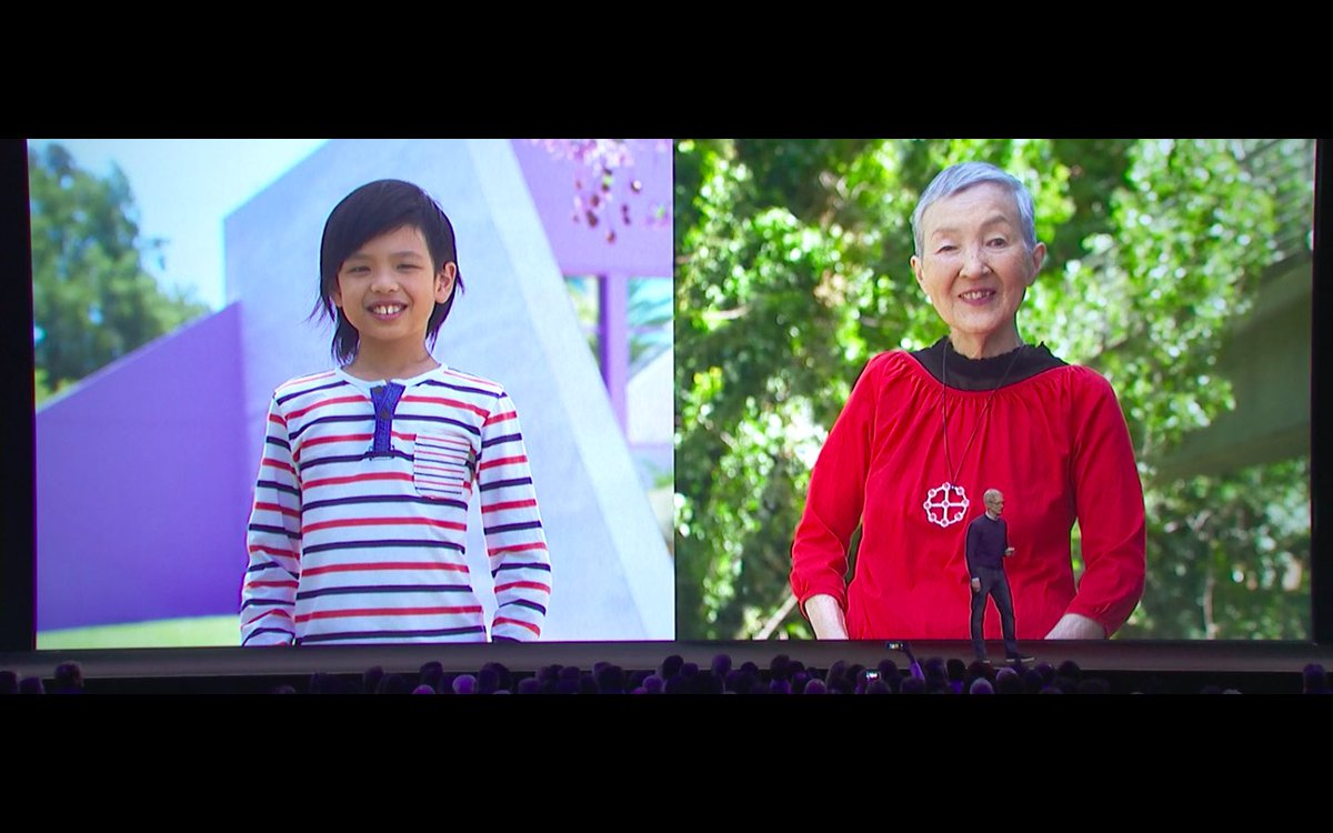 Youngest (10) and oldest (80s) app developers at WWDC 2017.