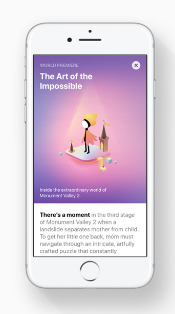 Stories available on 'Today' by  Apple.com