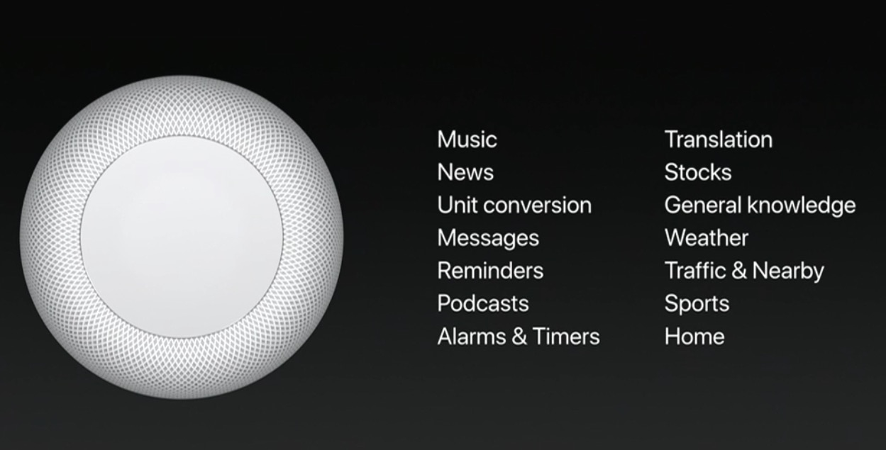 HomePod via Apple at  WWDC 2017