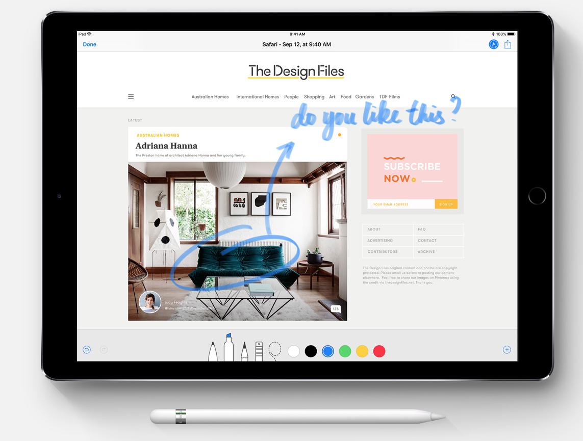 Markup via  Apple.com