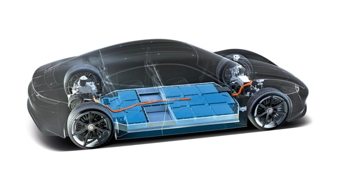 Porsche's Floor Battery, Image via  Porsche