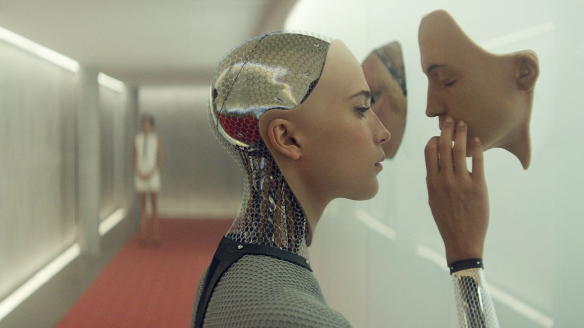 Scene from   Ex Machina   (2015)