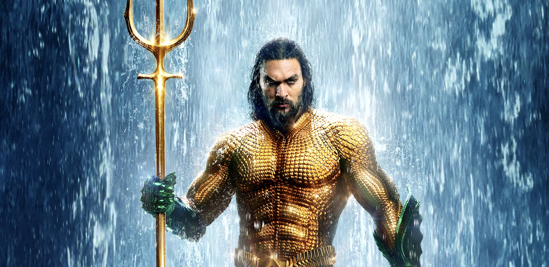 Jason Momoa as Aquaman, Image via Warner Bros.