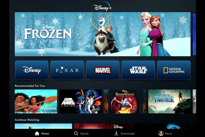 Image of Disney+ on tablet courtesy of  Disney