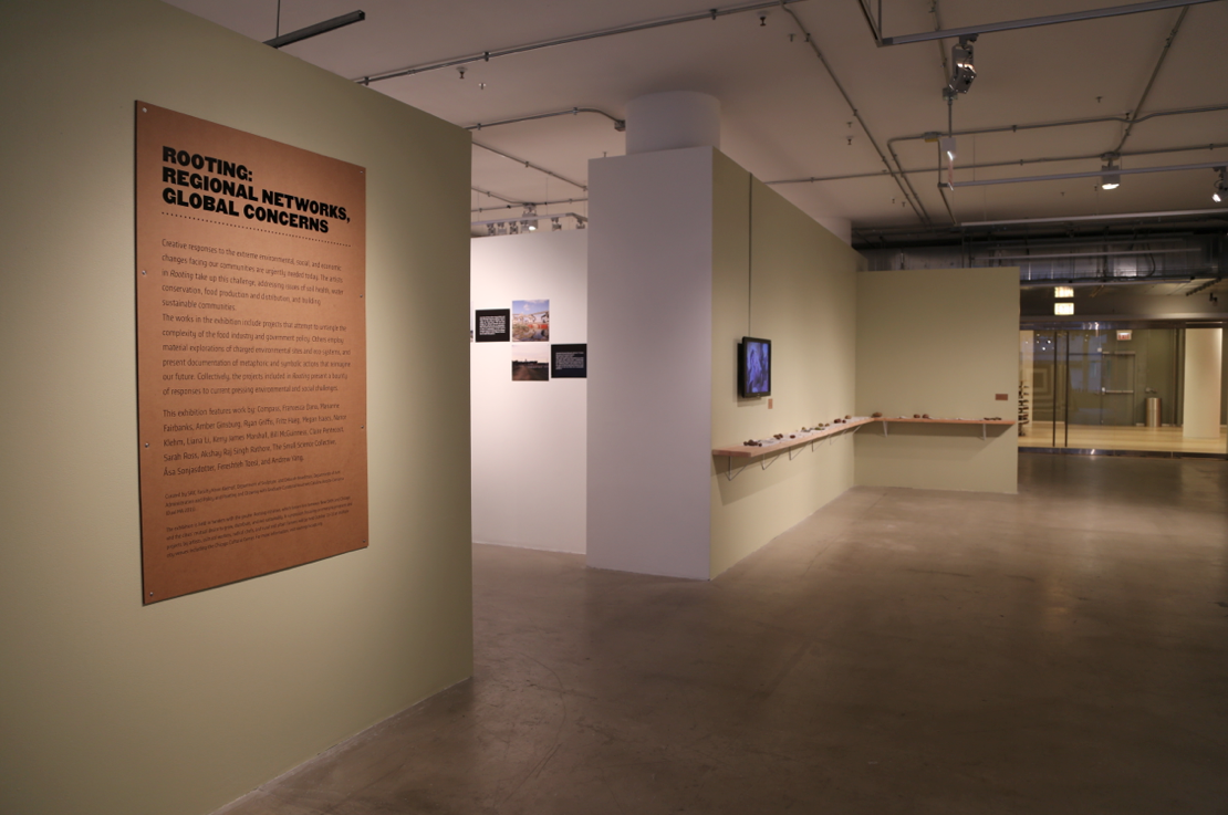 Title wall, Sarah Ross, and Asa Sonjasdotter's works