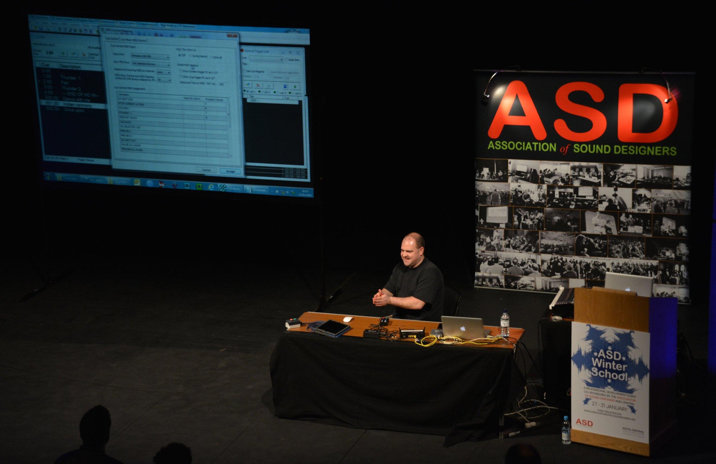 Richard Carter introducing CSC show control software
