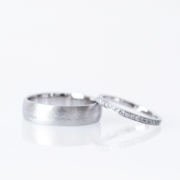 White gold wedding rings, Canberra Jeweller