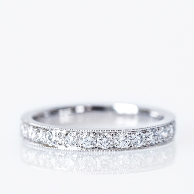 Classic white gold eternity ring, Canberra Jeweller