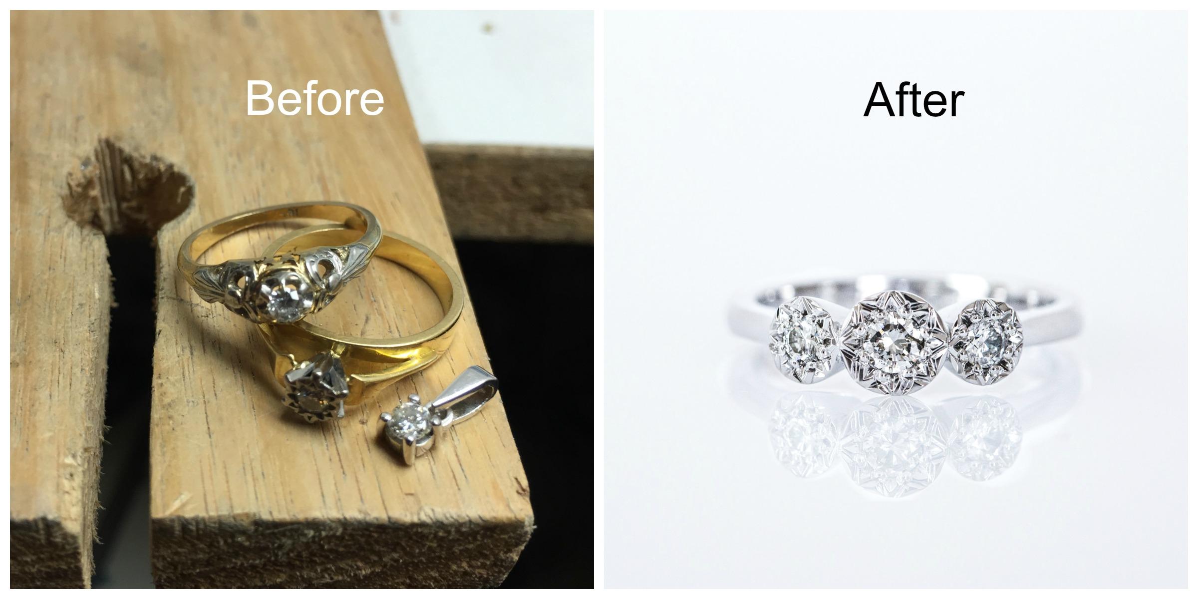 Remodelled jewellery - Harlequin Jewellers