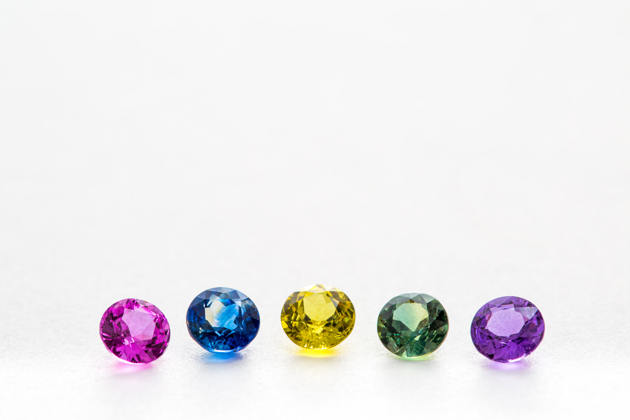 Coloured sapphires - Harlequin Jewellers Canberra