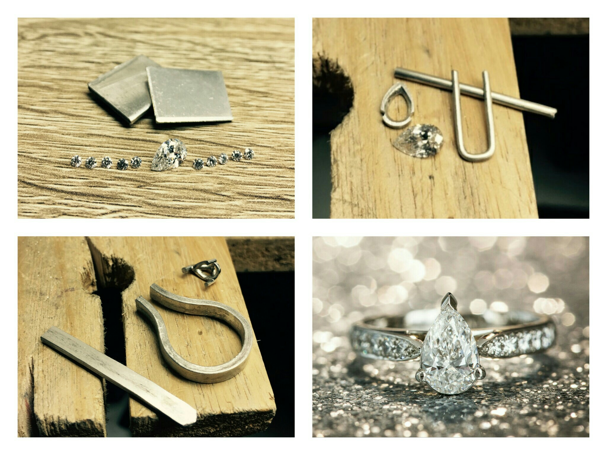 Creating Milka and Dejan's pear shaped diamond engagement ring