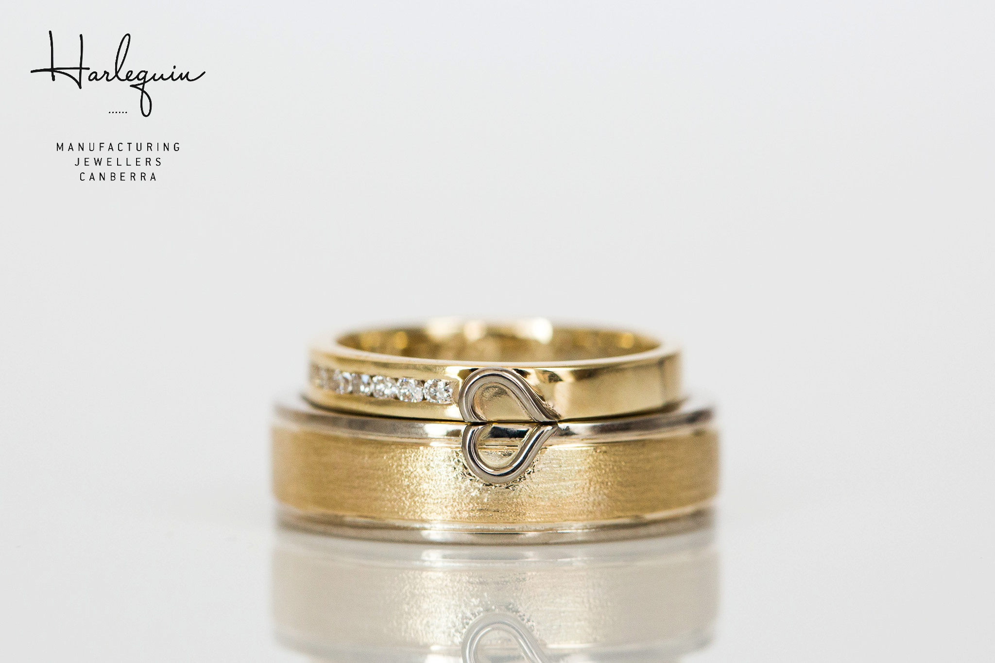Kim and Rob's wedding ring set