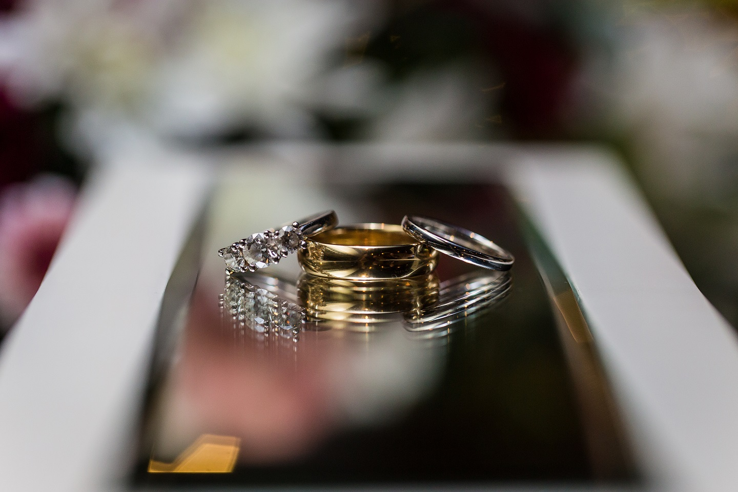Zack and Kate's complete engagement and wedding ring set.  Photo:  Dreamlife Photos Brisbane