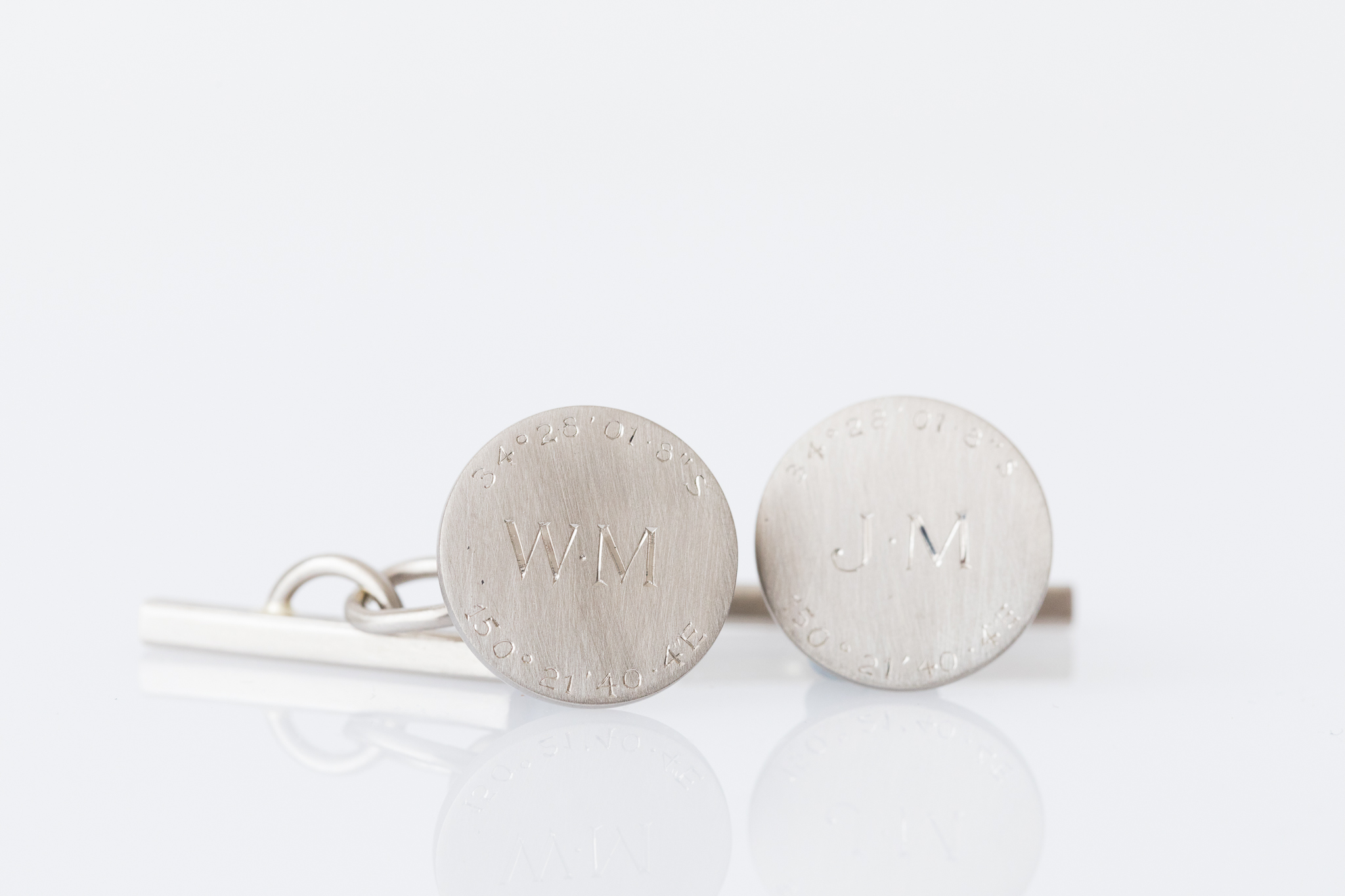 Handmade cufflinks make a beautiful heirloom gift for a first anniversary, like this bespoke set created for Bill.