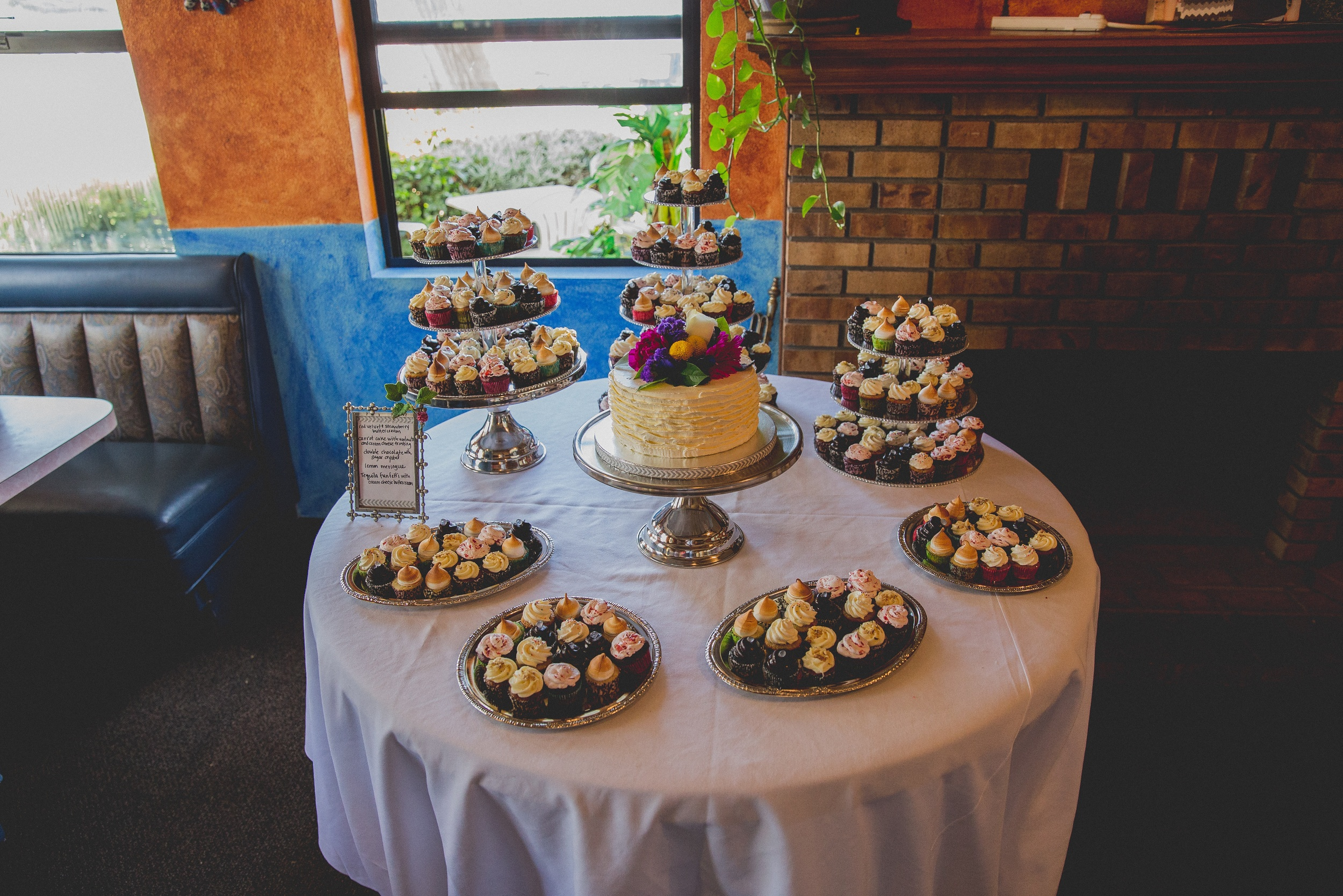 300 mini cupcakes and a Tequila Funfetti cutting cake. Photo by Paul Bolger.