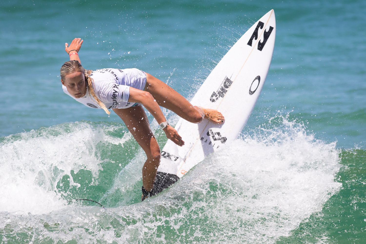 Isabella Nichols, on her way to winning the junior title.