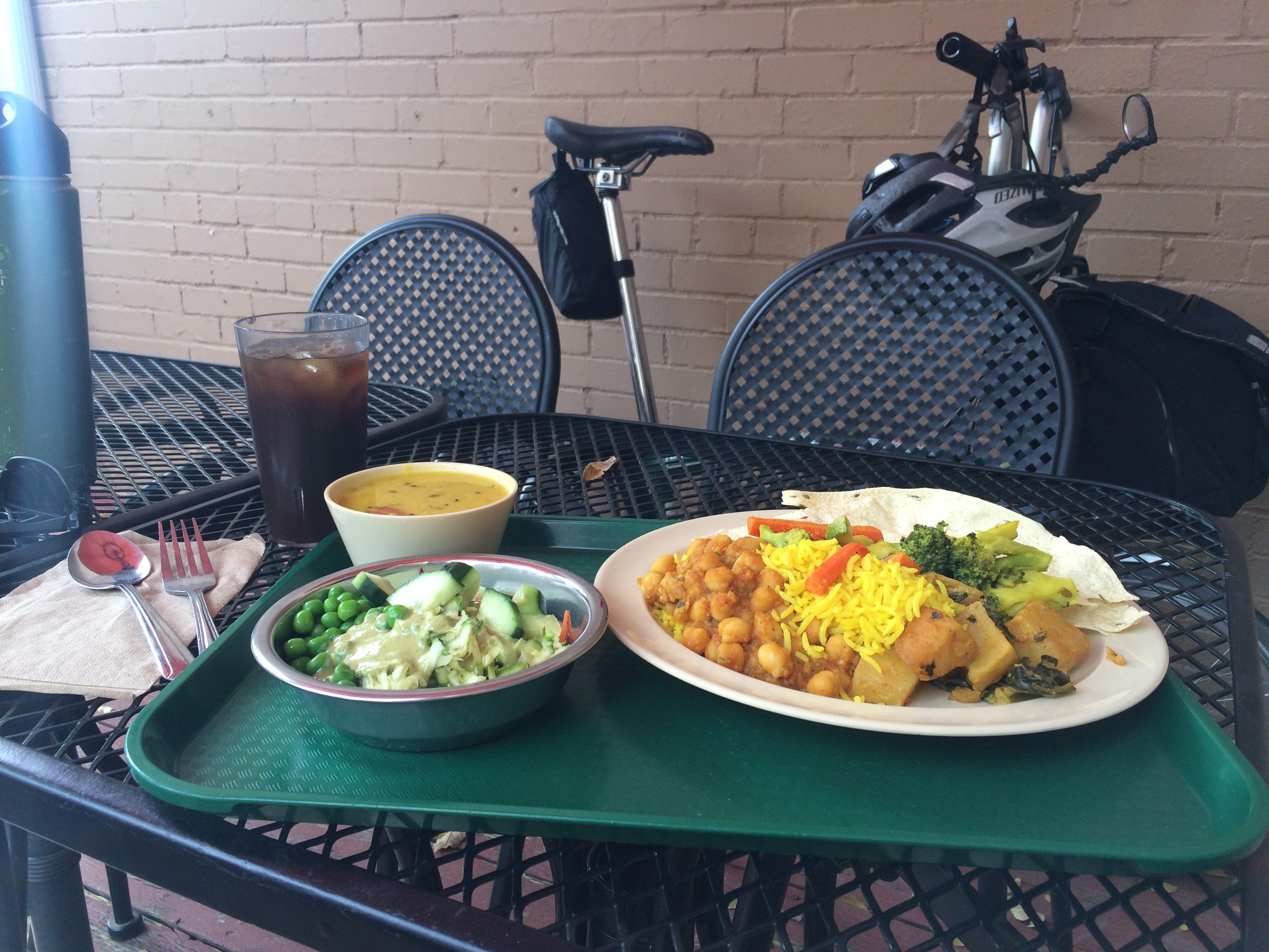 Lunch at Govinda's Garden Cafe, Denver, Colorado