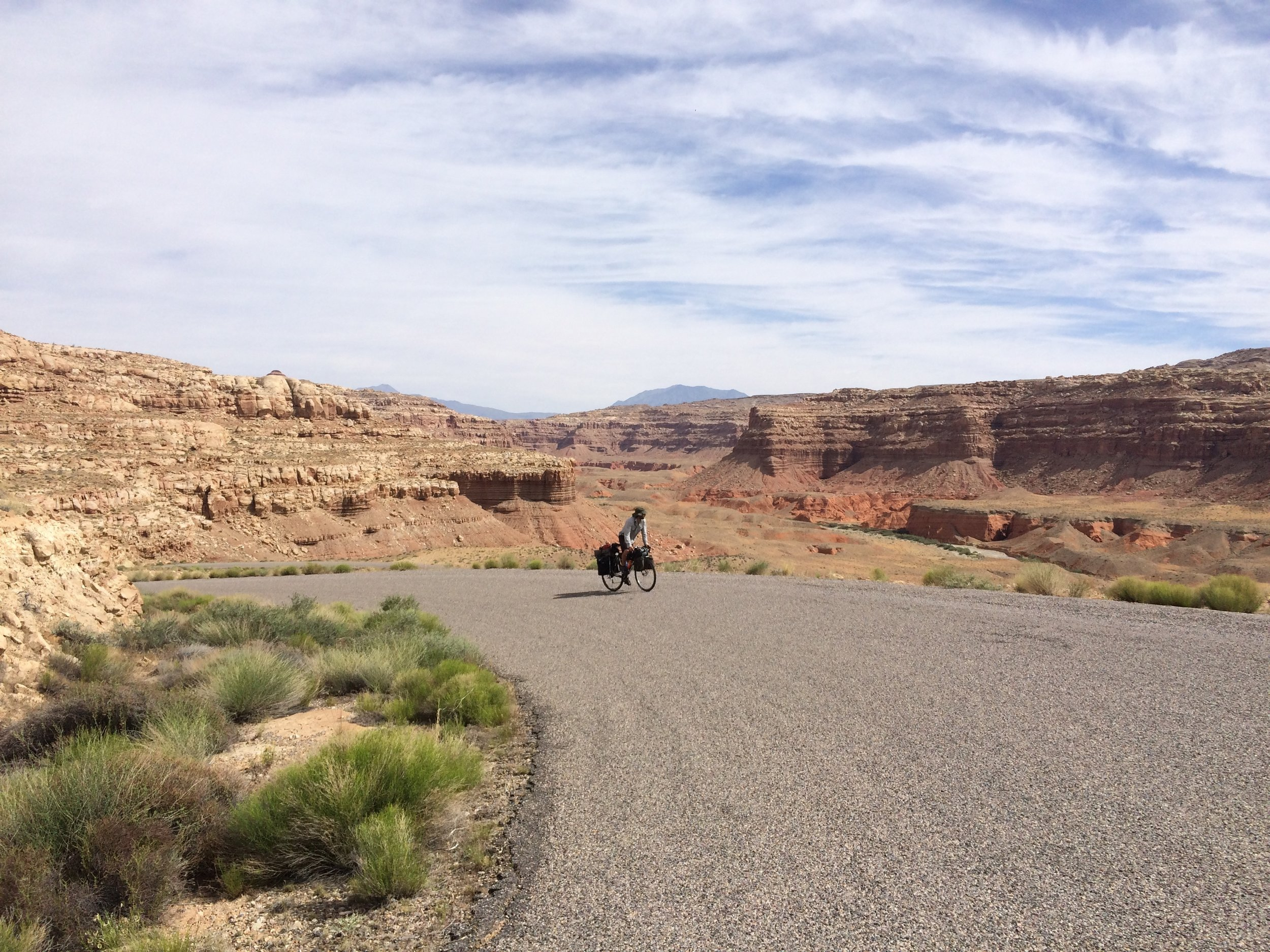Ross ascending the Burr Trail