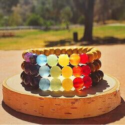Chakra Healing Wood Bracelets