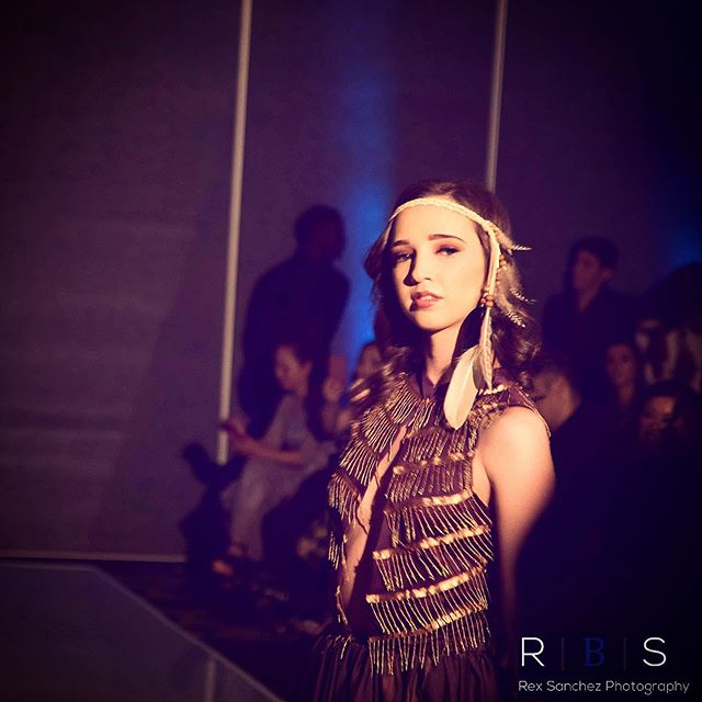 A little throwback to LAFW, featuring our look celebrating Native American Culture. #seeds #lafw #socialfashionweek #joshuajames #melyndavalera #fashion #couture