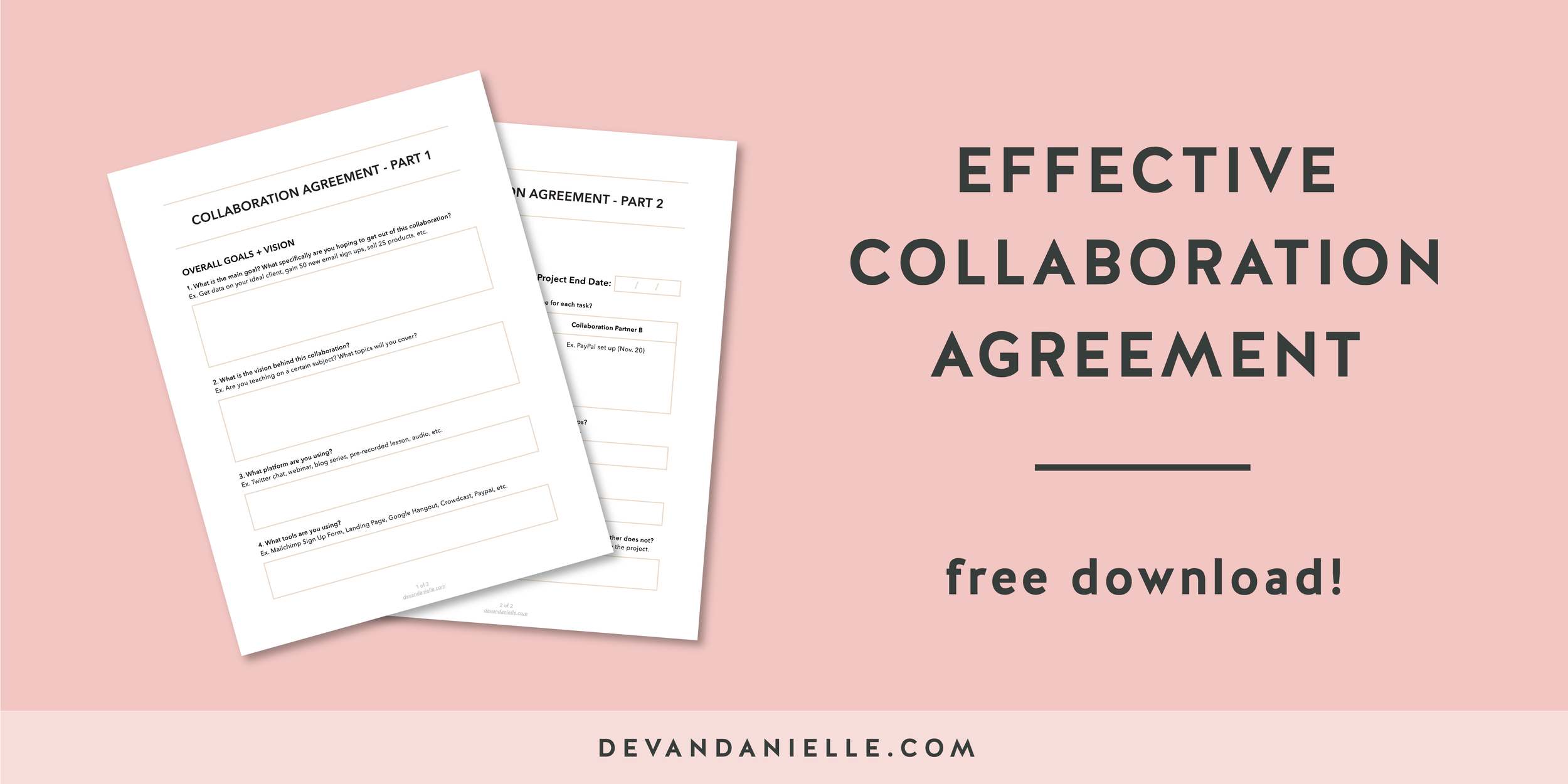 Effective Collaboration Agreement