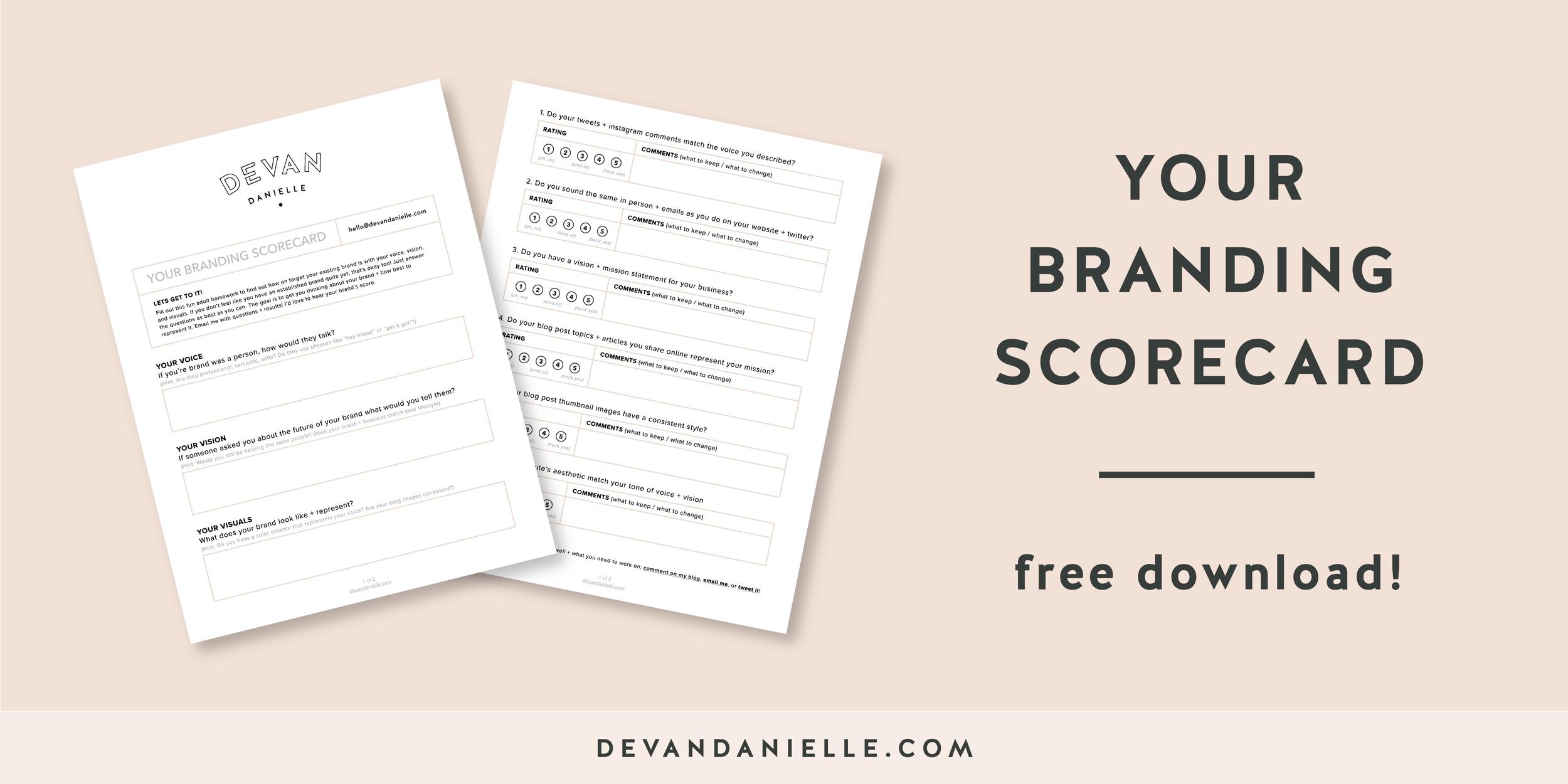 Branding Scorecard