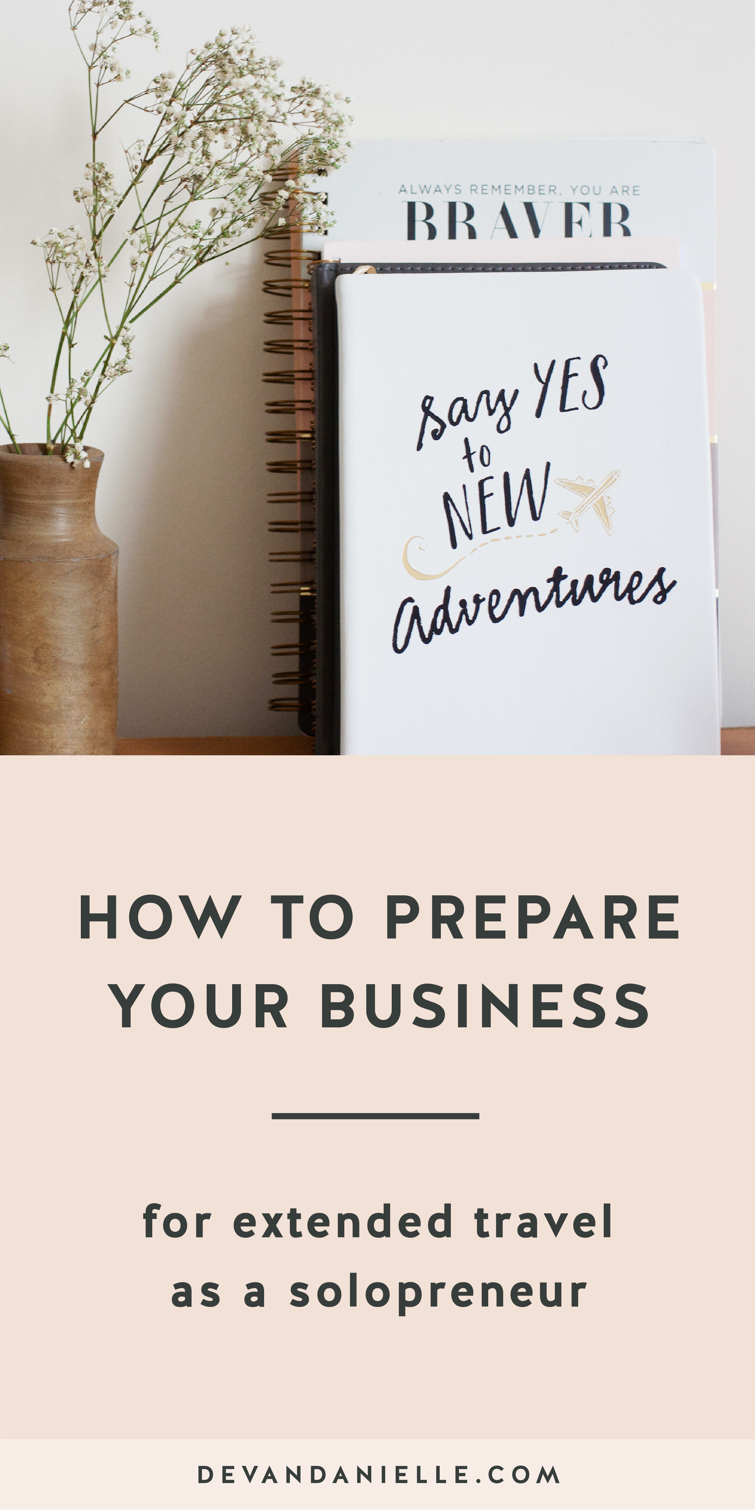 How to Prepare Your Business For Extended Travel
