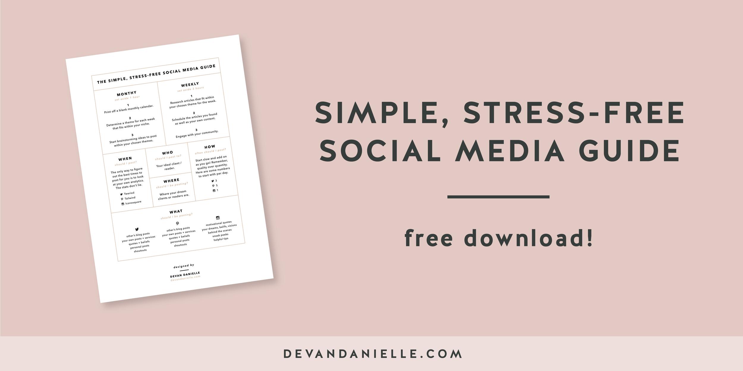Simple Stress-free Social Media Guide