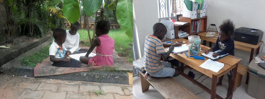 Figure 3. Little Kyazzes at it in their home