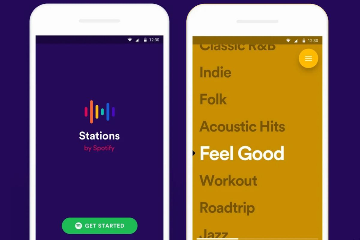 "Spotify launches ""Stations"" app  Source: Spotify"
