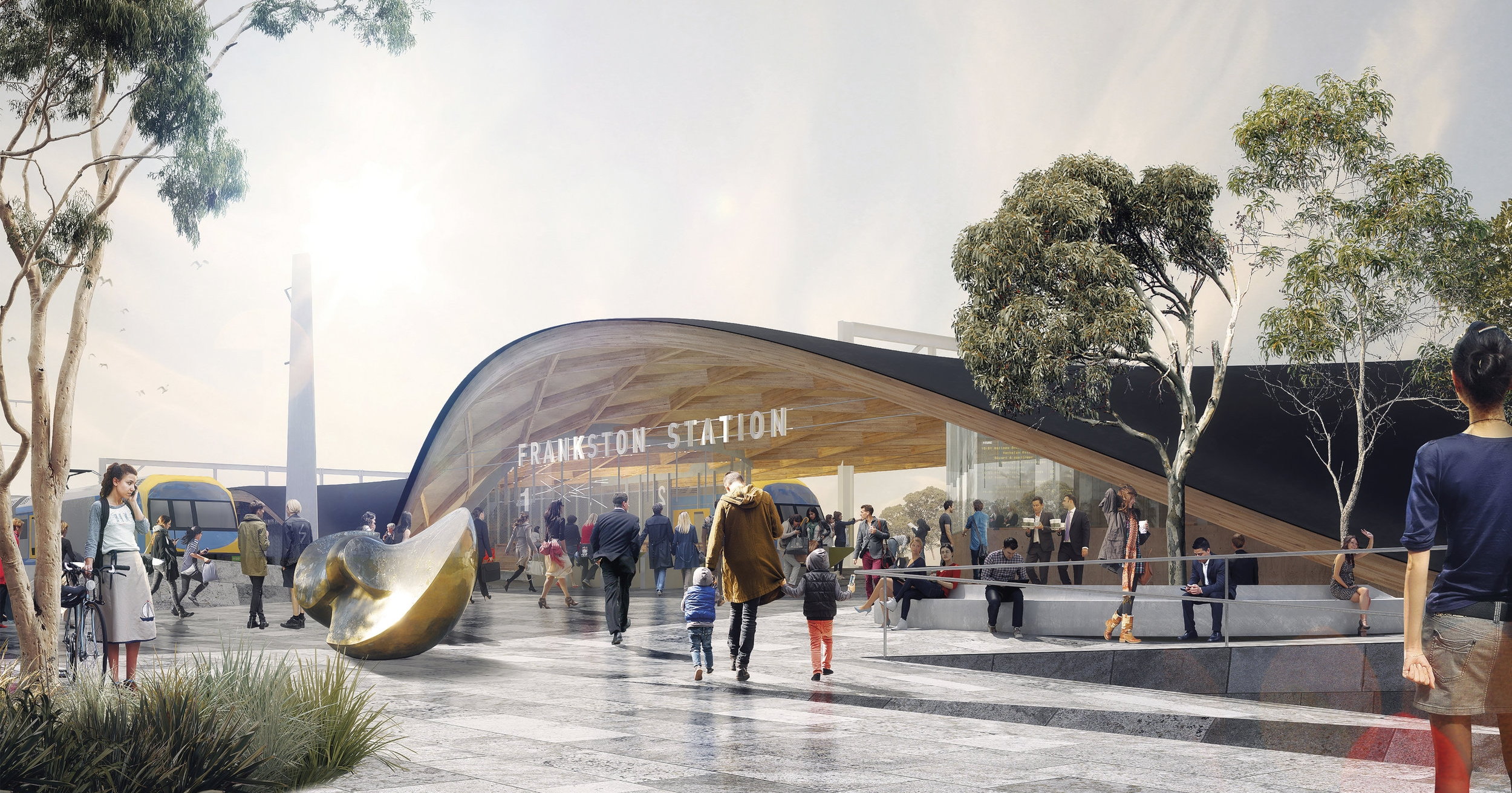 FRANKSTON STATION YOUNG STREET ENTRANCE