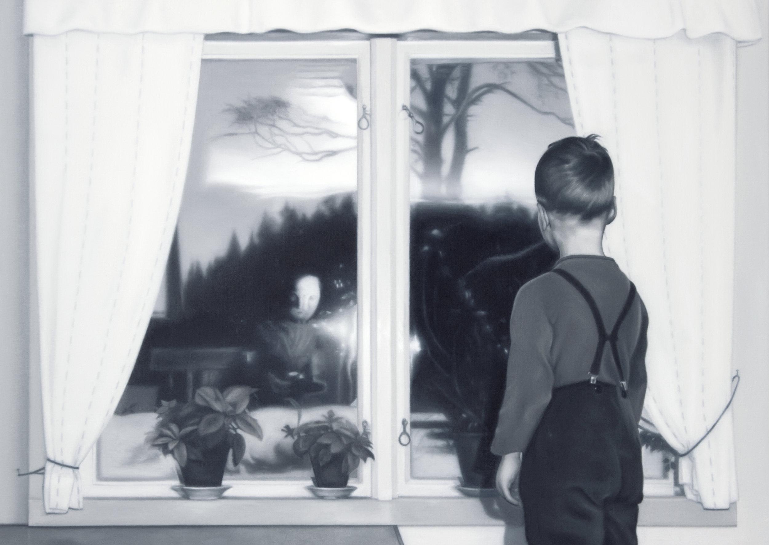 Pojken vid fönstret