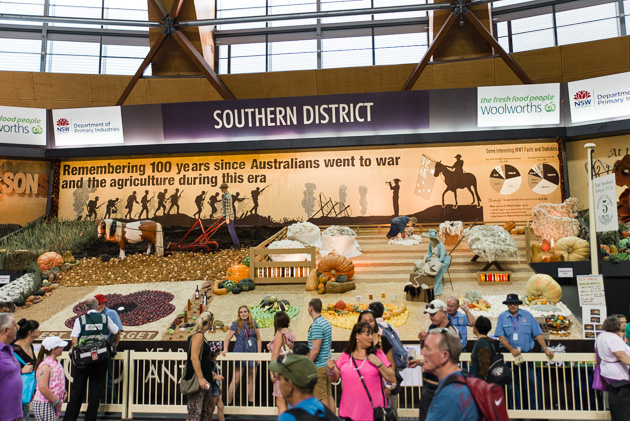 One of the District Exhibits at the 2015 Easter Show